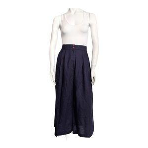 Vintage high waisted wide leg crop pants